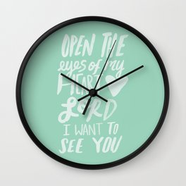 Open the Eyes of My Heart Lord x Mint Wall Clock