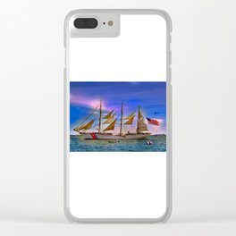 US Coast Guard Eagle. Clear iPhone Case