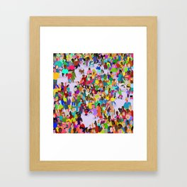 None of these people are my friends Framed Art Print