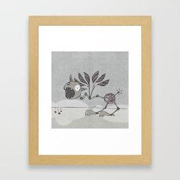 Grey Shrieky Framed Art Print