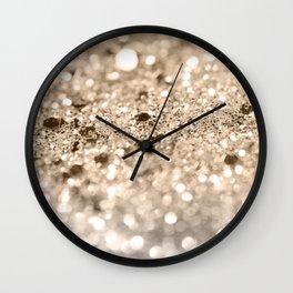 Gold Lady Glitter #1 #shiny #decor #art #society6 Wall Clock