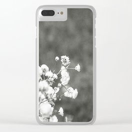 Black and white florals Clear iPhone Case