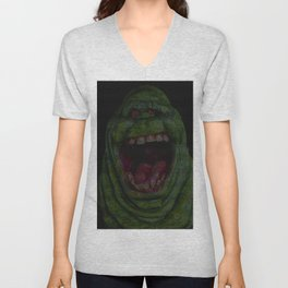Slimer: Ghostbusters Screenplay Print Unisex V-Neck