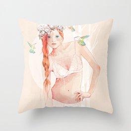 Colibrí Throw Pillow