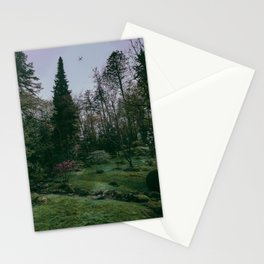 flight over the japanese gardens Stationery Cards