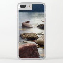 Lake Rocks Clear iPhone Case