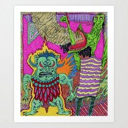 Trollz Ablaze Art Print