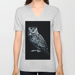 Burning Owl Unisex V-Neck