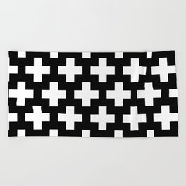 Swiss Cross W&B Beach Towel