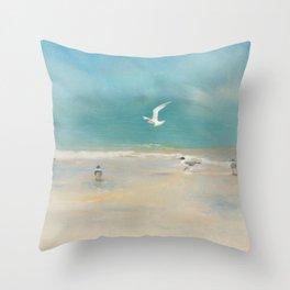 A Tern among Gulls Throw Pillow