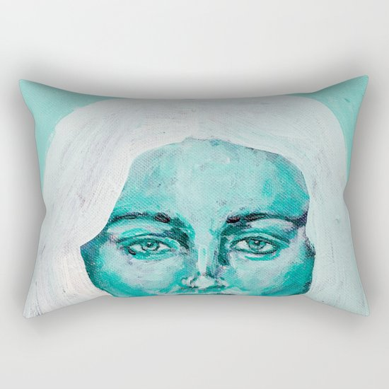 Mint Girl Rectangular Pillow