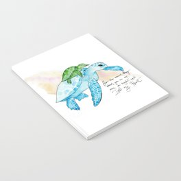 Snuggled into my heart Sea Turtle Notebook