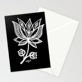 White Flower 94 Stationery Cards