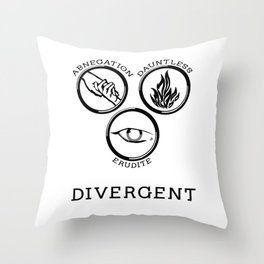 Divergent (Black) Throw Pillow