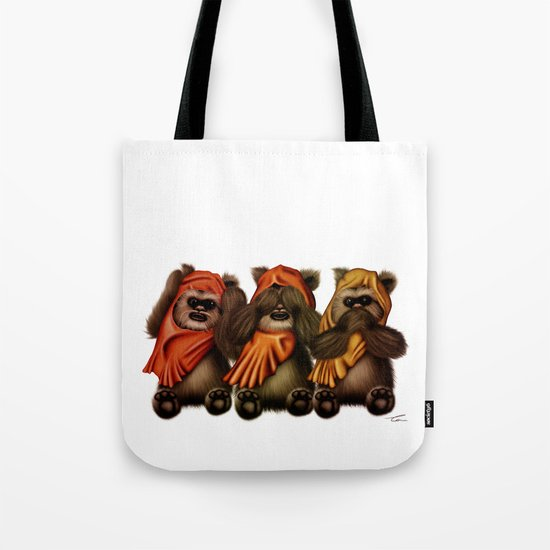 STAR WARS The Three Wise Ewoks Tote Bag