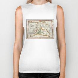 Vintage Map of Mesopotamia (1482) Biker Tank