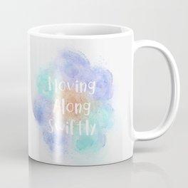 Moving Along Swiftly (white, orange, mint, violet) Coffee Mug