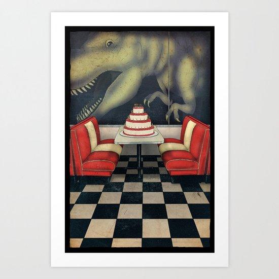 T-Rex Birthday Art Print