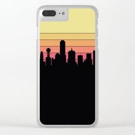 Dallas Skyline Clear iPhone Case