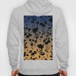 Twilight on the Meadow. Dark Floral Hoody