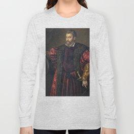 Portrait of Alfonso d'Este, Duke of Ferrara, by Titan Long Sleeve T-shirt