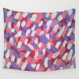 Pink and Purple Brushstrokes Art Wall Tapestry