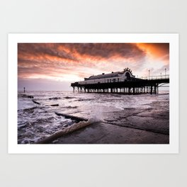 High tide at the Pier Art Print