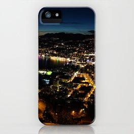 Lugano by night iPhone Case