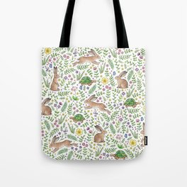 Spring Time Tortoises and Hares Tote Bag