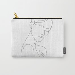 Shy Portrait Carry-All Pouch