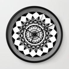 Grey mandala Wall Clock