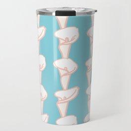 Arum Lily Pattern Travel Mug