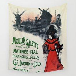 Moulin De La Galette 1896 Paris Wall Tapestry
