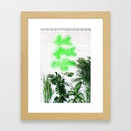 Neon Coffee Framed Art Print