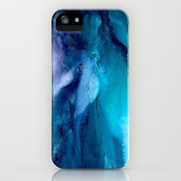 The Bluest Blue Abstract iPhone Case