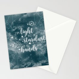 Light and Stardust Stationery Cards