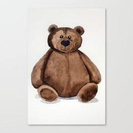 Chubster the Teddy Canvas Print