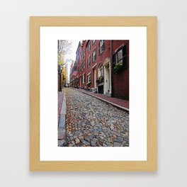 Acorn street views Framed Art Print