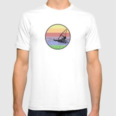 Windsurfing Mens Fitted Tee White MEDIUM