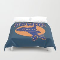 power Duvet Covers featuring Power! by BATKEI
