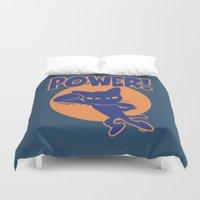 power rangers Duvet Covers featuring Power! by BATKEI
