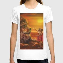 Lion twins | Lion et jumelles T-shirt