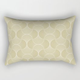 Scandinavian Floral - Art Deco Geometric Shapes Rectangular Pillow