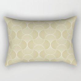 Scandinavian Floral - Art Deco Geometric Shapes Rectangular Pillow