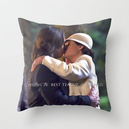 Sometimes the best teacup is chipped. Throw Pillow