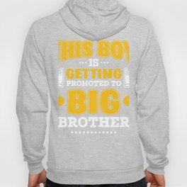 Big Brother Gift Promoted to Big Brother New Baby Announcement Hoody