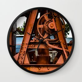 The Old Rusty Ship Crane Wall Clock