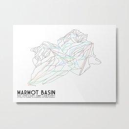 Marmot Basin, Alberta, Canada - Minimalist Trail Art Metal Print