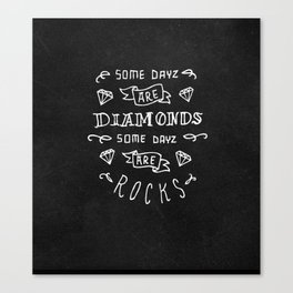 Diamonds and Rocks Canvas Print