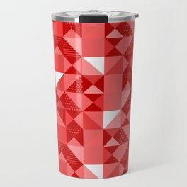 Red triangles Travel Mug